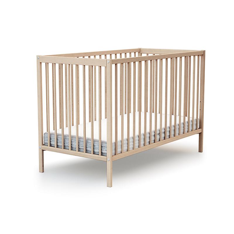 Lit bébé Essentiel à barreaux bois hêtre 60 x 120 cm