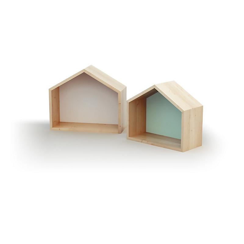 Lot de 2 Etagères Maison (1 grande 1 moyenne)