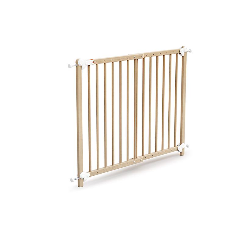 Barrière de sécurité enfant amovible et portillon 73-110 cm bois naturel