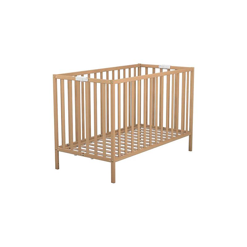Lit bois pliant naturel 60 x 120 cm