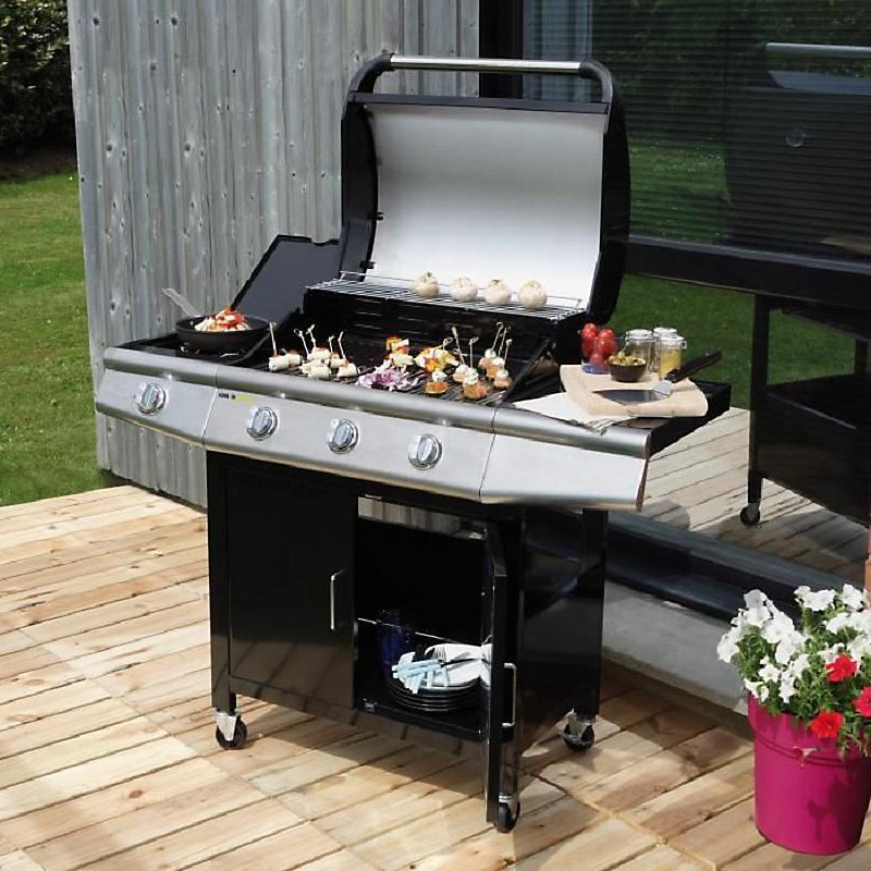 Barbecue Gaz 3 Brûleurs Side Garden Max Maison Et