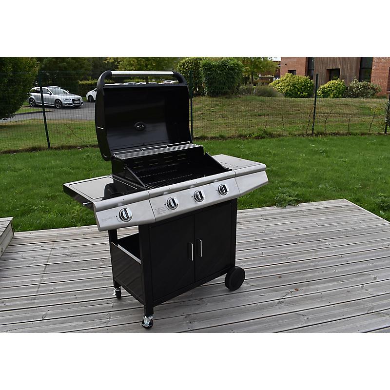 Barbecue gaz 3 brûleurs + side - GARDEN MAX