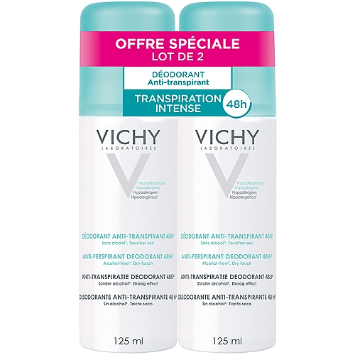 Vichy lot*2 anti transpirant aerosol 2x125ml