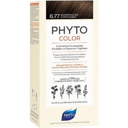 Phytocolor coloration permanente - teinte : 6.77 marron clair cappuccino