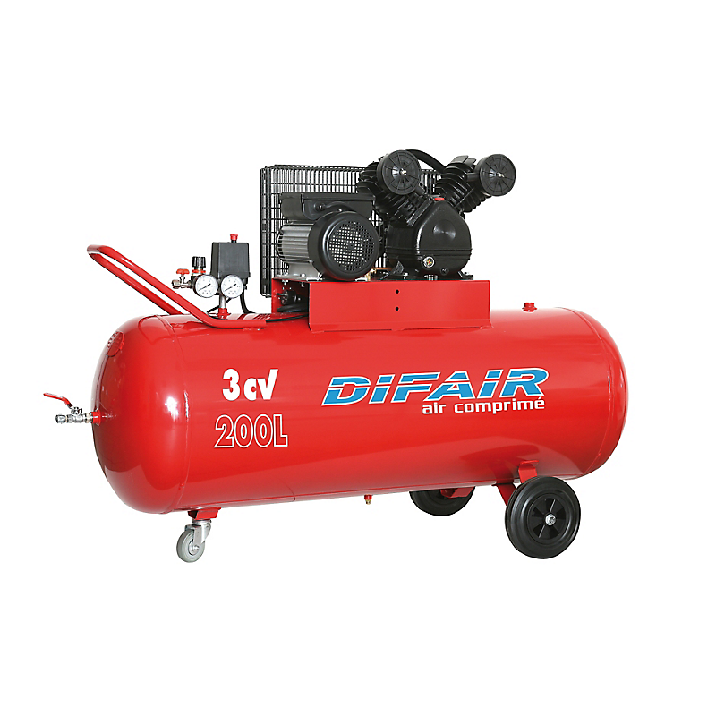 Compresseur d'air bicylindre 200 L