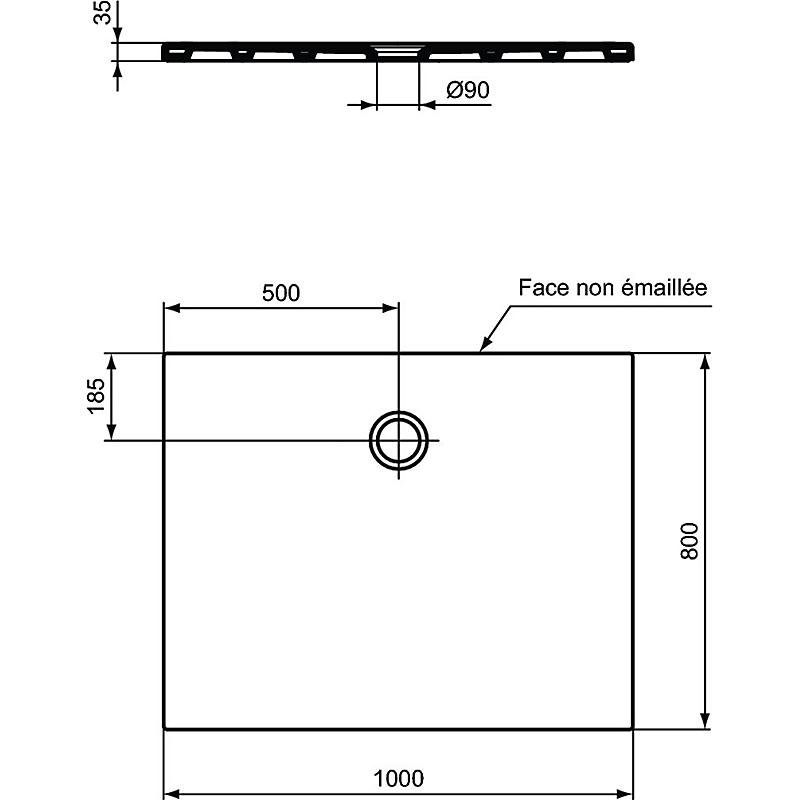 https www maisonetloisirs leclerc receveur de douche en ceramique extra plat 100x80 cm idealsoft