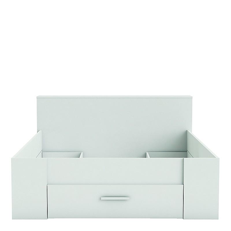 Cadre de lit avec rangement POCKET blanc 140 x 190 cm - Maison et Loisirs E. Leclerc