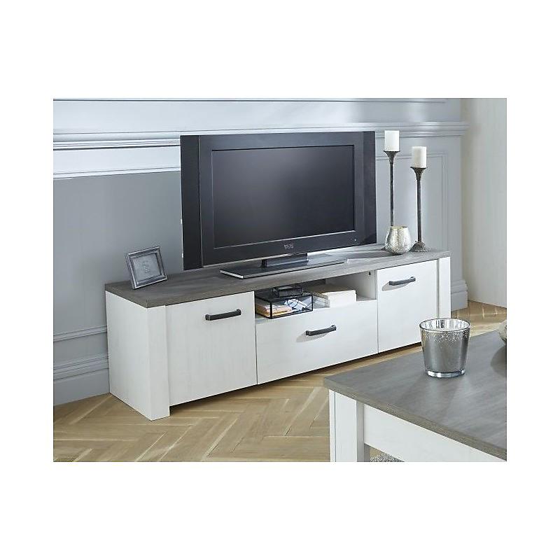 Meuble Tv Marquis En Pin Et Chêne Maison Et Loisirs E Leclerc