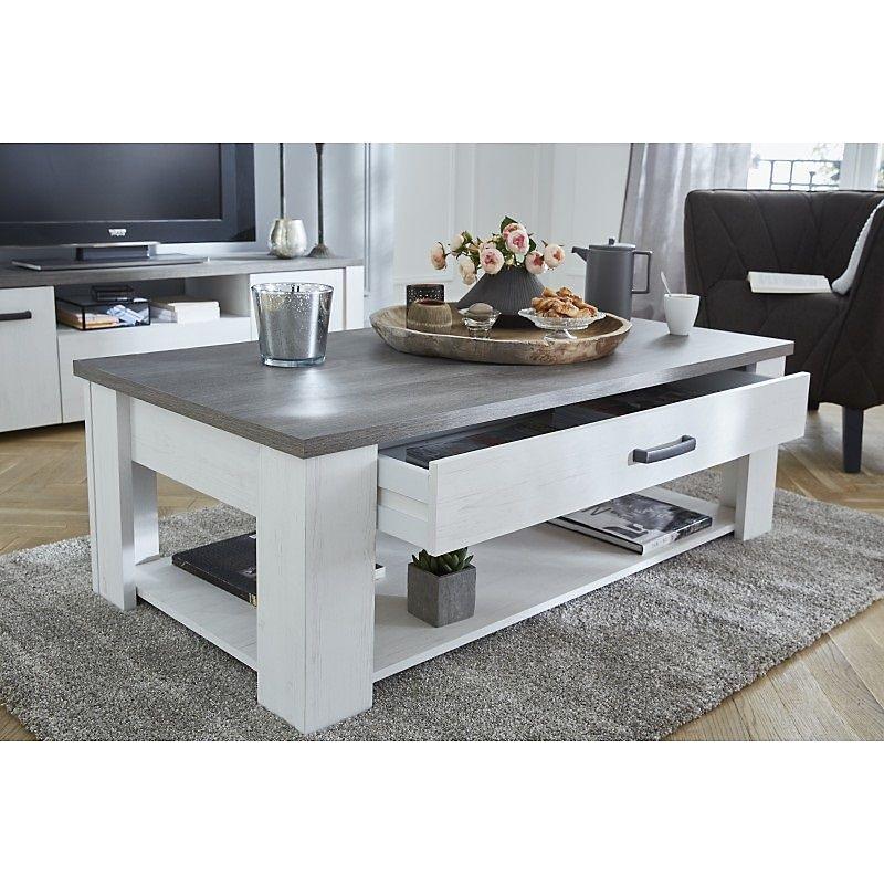 Table Basse Marquis 120 X 64 Cm En Panneau De Particules Et Chene Prata Maison Et Loisirs E Leclerc