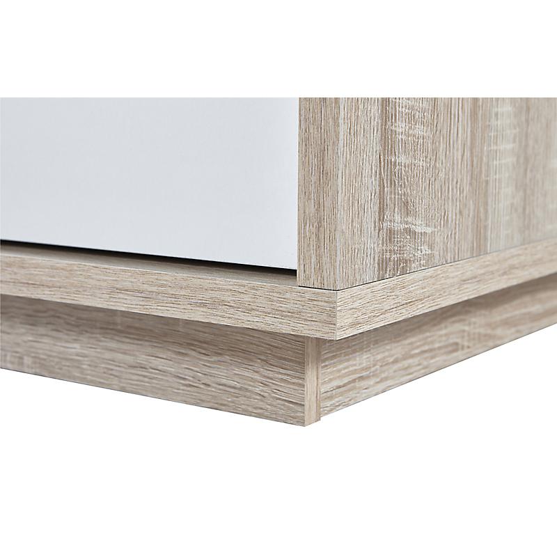 Buffet Nature 2 portes 4 tiroirs chêne et blanc