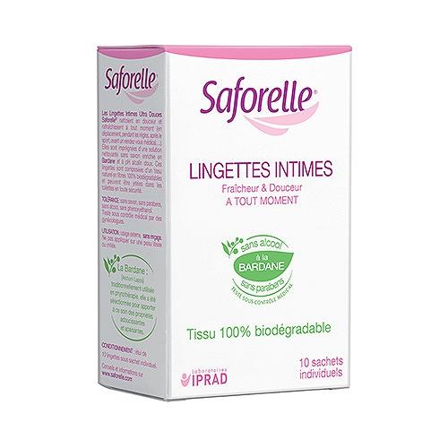 Saforelle lingettes boite 10 sachets individuels