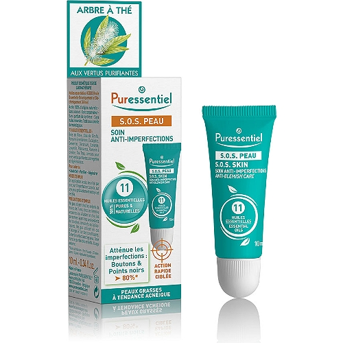SOS peau soin anti-imperfections 11 huiles essentielles 10 ml