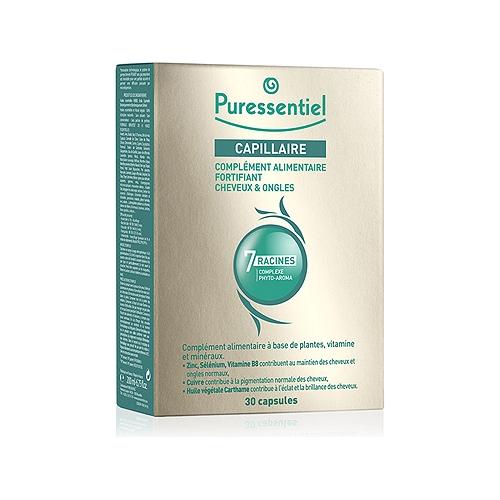 Complément alimentaire fortifiant cheveux & ongles aux 7 racines - 30 capsules