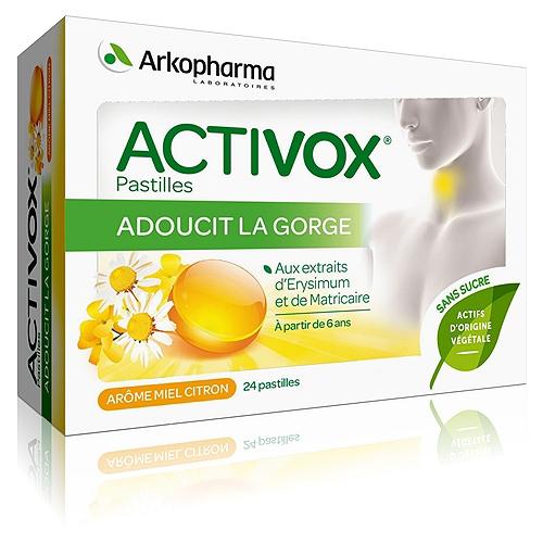 Activox pastilles, arôme miel citron, sans sucre x24