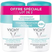 Vichy lot*2 anti transpirant bille 2x50ml