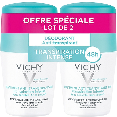 Vichy lot*2 anti transpirant bille 2x50ml