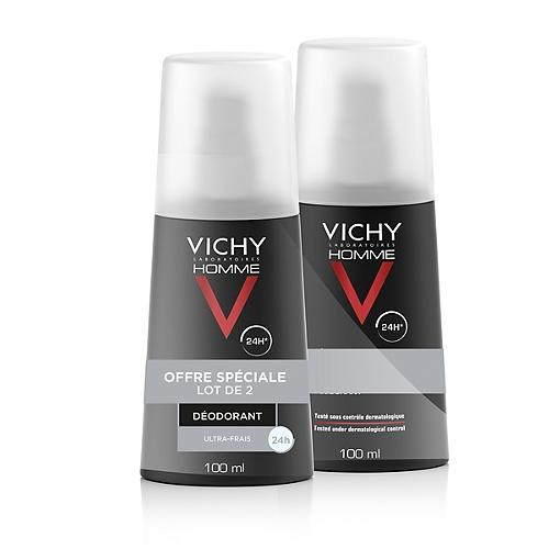 Vichy lot*2 deodorant vaporisateur 2x100ml