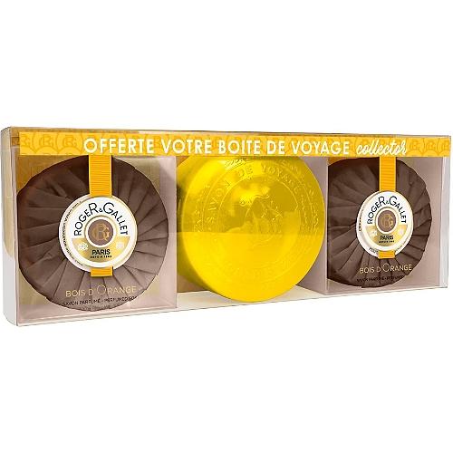 Coffret Bois d'Orange savons parfumés 2 x 100g + boîte offerte