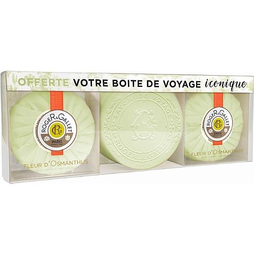 Coffret Fleur d'Osmanthus  savons parfumés 2 x 100g + boîte offerte