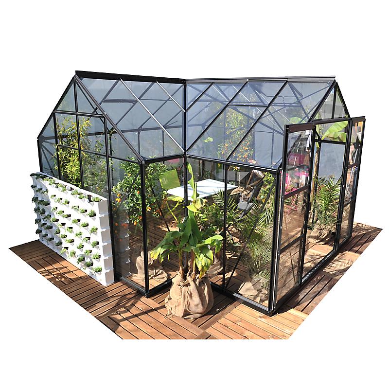 Serre de jardin ORANGERIE SIRIUS aluminium 13 m²