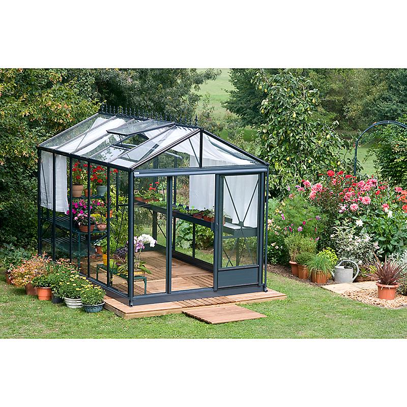 Serre de jardin aluminium et verre trempé de 7.29 m² - Maison et ...