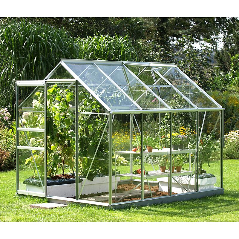 Serre de jardin aluminium gris VENUS 5000 5 m²