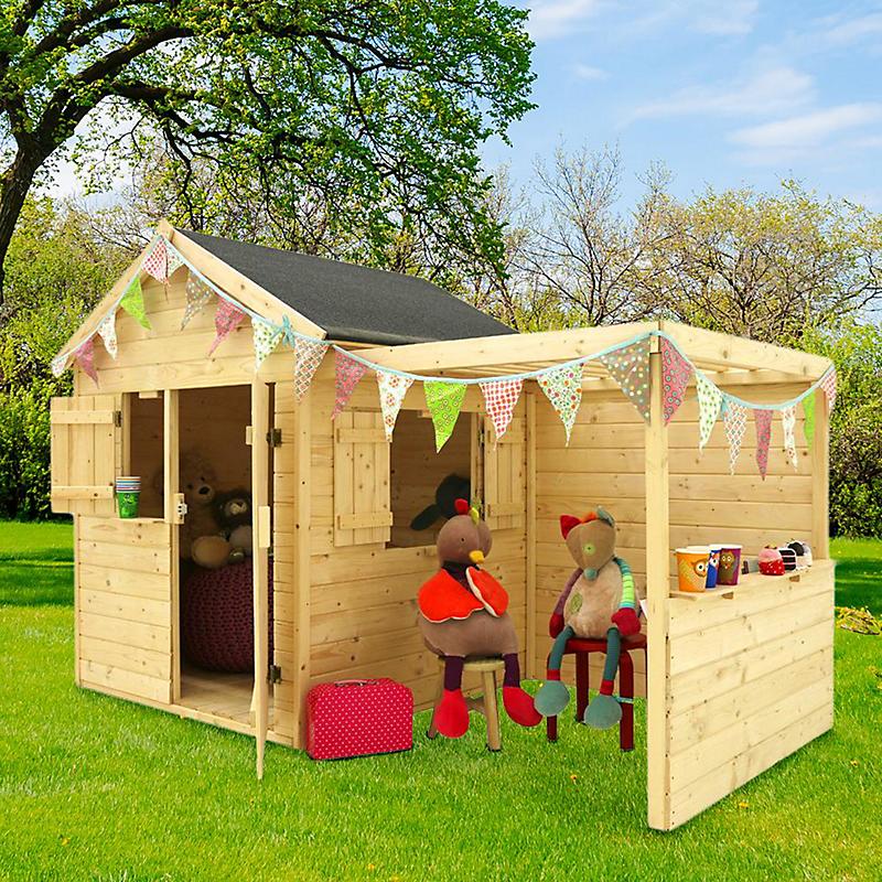 Maisonnette enfant alpaga avec pergola maison et loisirs e leclerc for Maisonnette bois