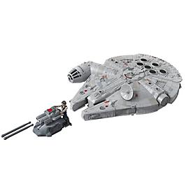 Star Wars - Vaisseau Deluxe Faucon Millenium et figurine Han Solo - Jouet Star Wars - E9343