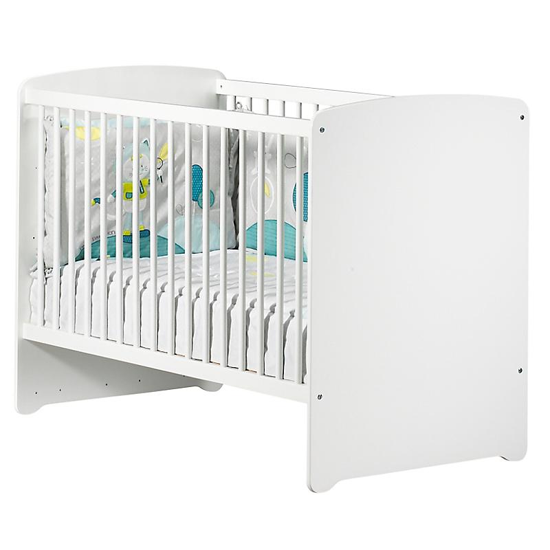 Lit bébé 60 x 120 cm - BASIC Blanc