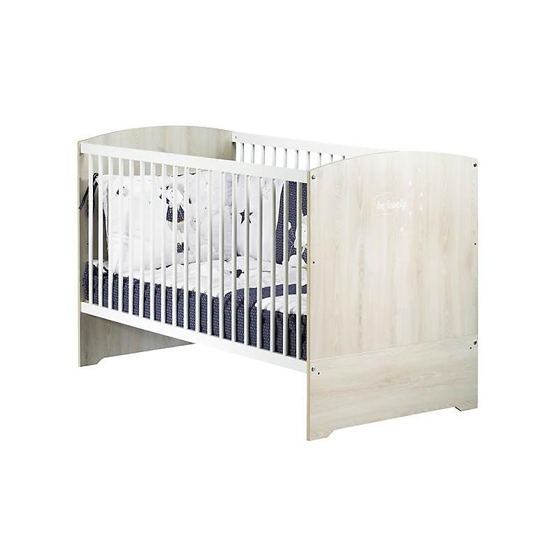 Lit bébé 140x70 évolutif en lit junior - Little Big Bed - Hêtre Cendré - SMILE