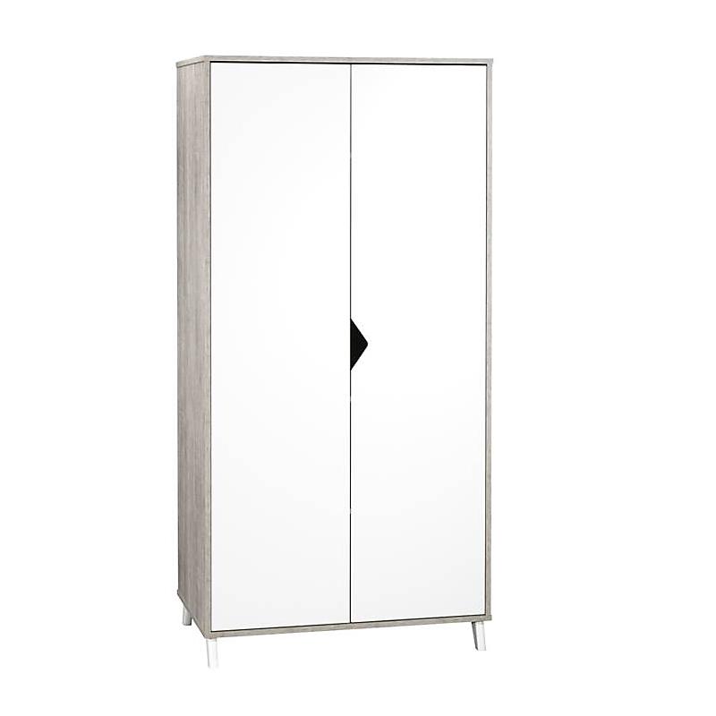 Armoire 2 portes - SCANDI GRIS