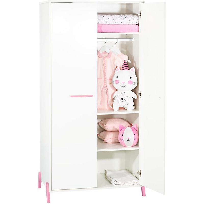 Armoire 2 portes avec pieds roses - JOY ROSE