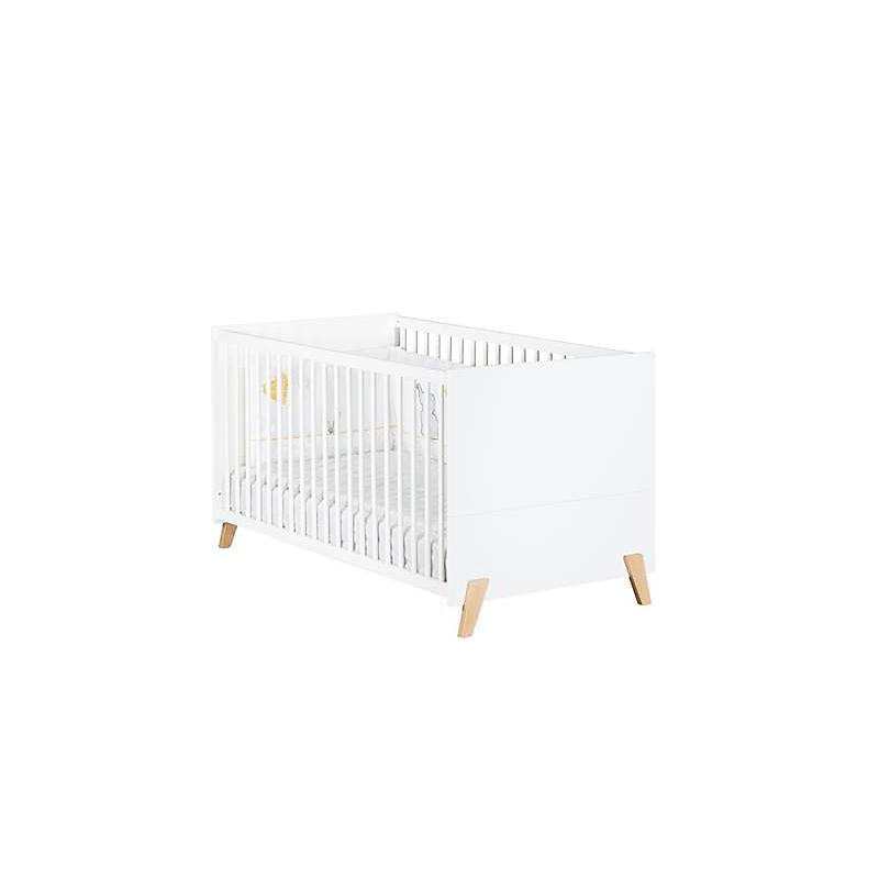 Lit bébé évolutif 140x70 avec pieds bois - Little Big Bed JOY NATUREL
