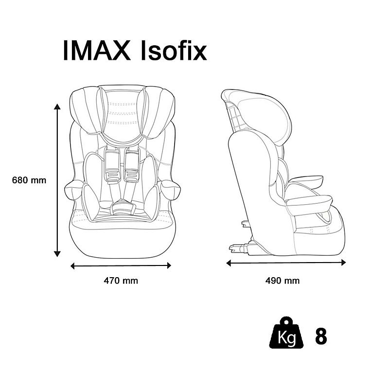 Siège auto Isofix Imax Luxe GPE 1/2/3 Rouge