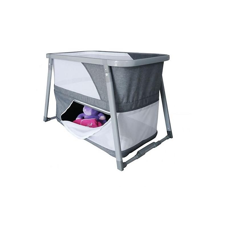 Lit bébé pliant gris LIDO 3 en 1 – berceau, lit pliant et parc bébé – Nania