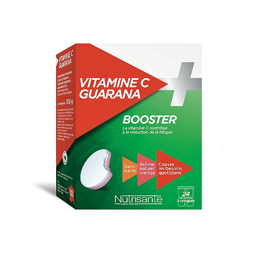 Vitamine C+Guarana - 24 Comprimés