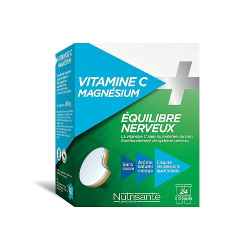 Vitamine c + magnesium - 24 comprimés