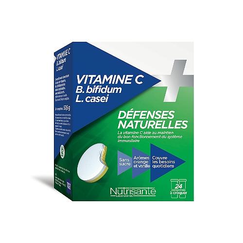 Vitamine c + probiotiques 24 comprimés à croquer
