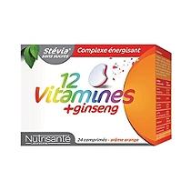 12 Vitamines + Ginseng - 24 Comprimés