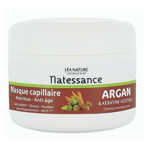 Masque capillaire argan & kératine végétale, nutrition - anti-âge