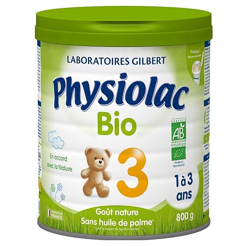 Physiolac lait infantile bio croissance 800g