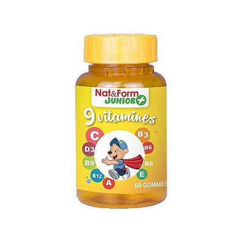 9 vitamines  60 gommes