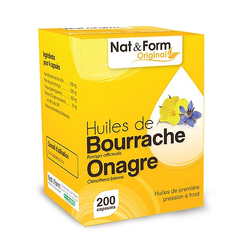 Nat & Form Bourrache/Onagre 200 capsules