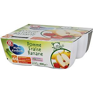 963564baffc57 Purée de fruits pomme fraise banane 4X100g 4 6 mois