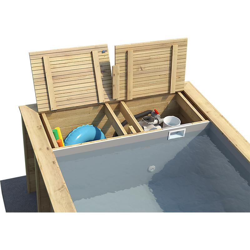 Piscine bois rectangulaire POOL'N BOX  L.610 x l.237 x H.133 cm