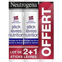 Trio Sticks Lèvres (2 achetés le 3ème offert)
