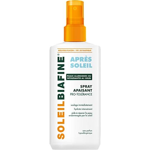 Soleilbiafine Lait Spray Après-Soleil Peaux Sujettes aux Allergies Solaires 200ml