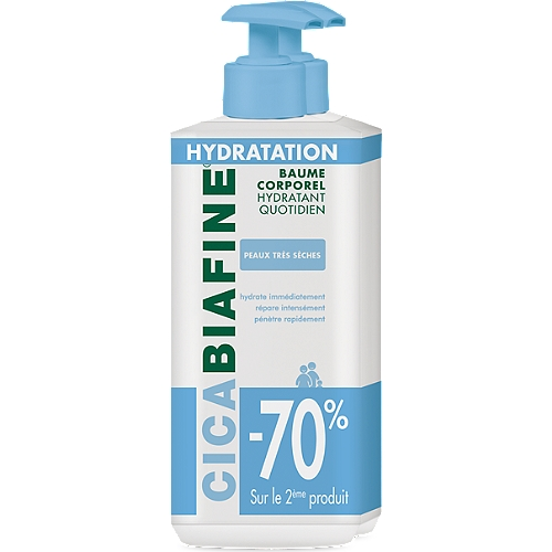 Duo baume hydratant corporel quotidien (-70% sur le 2nd) tube 2 x 400 ml