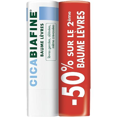 Stick lèvres cicabiafine 2x4.9g
