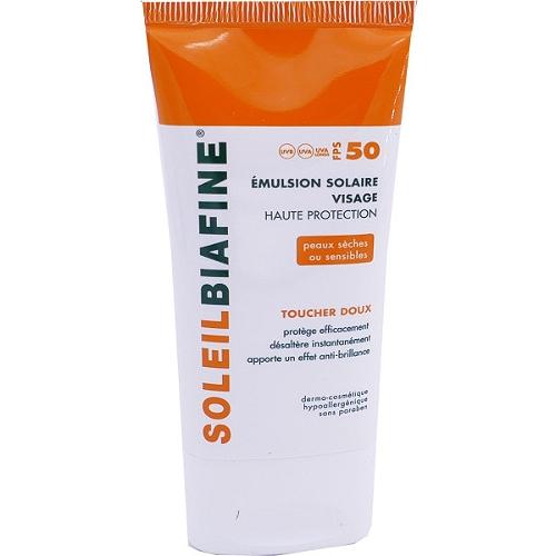 Emulsion solaire visage toucher doux spf50 - 50ml
